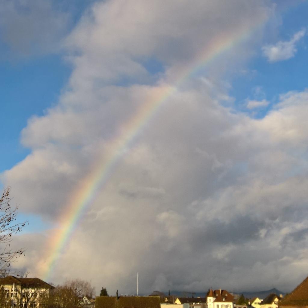 Regenbogen über Lenzburg